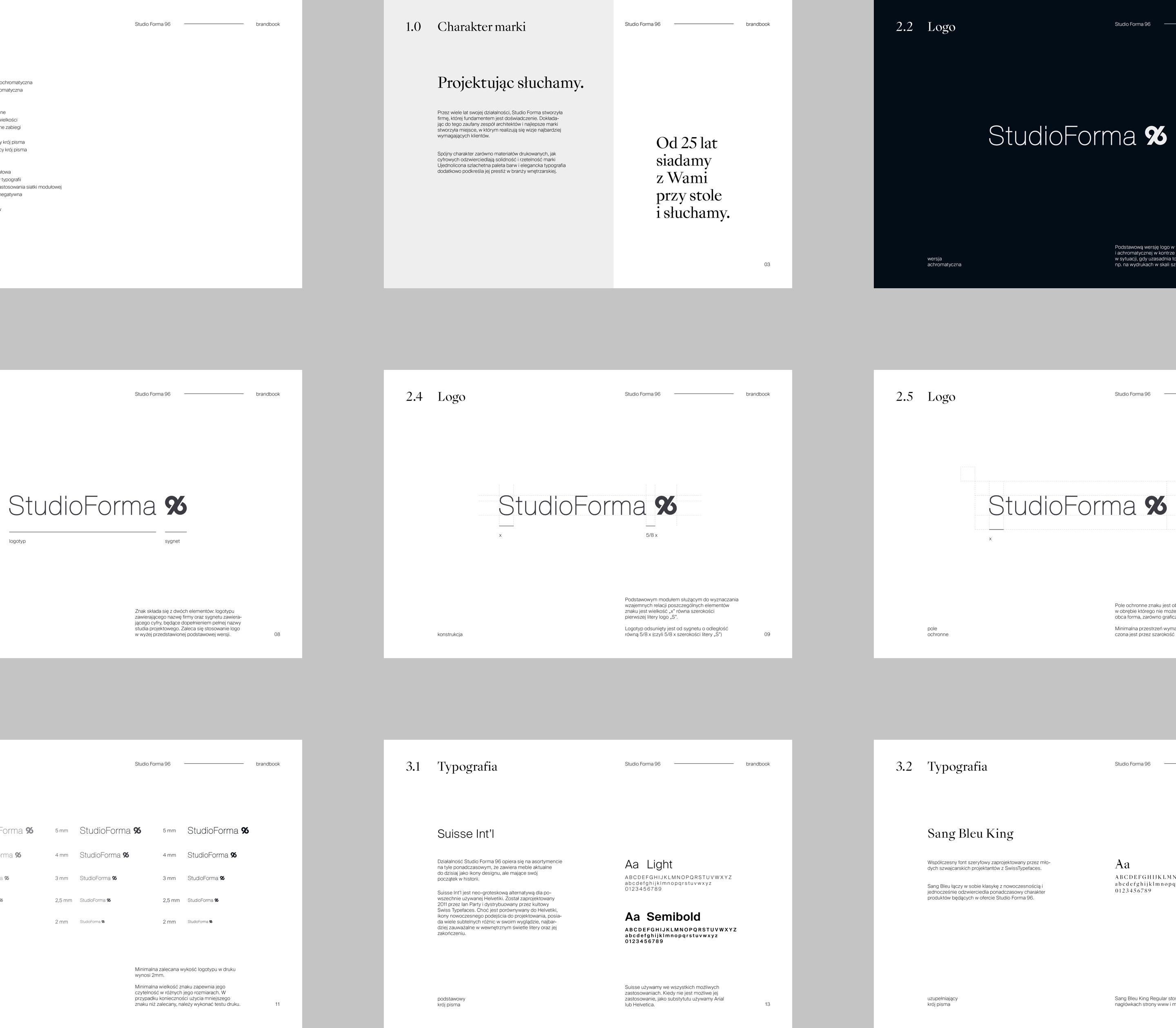 Brandbook templates -  StudioForma 96 by Uniforma