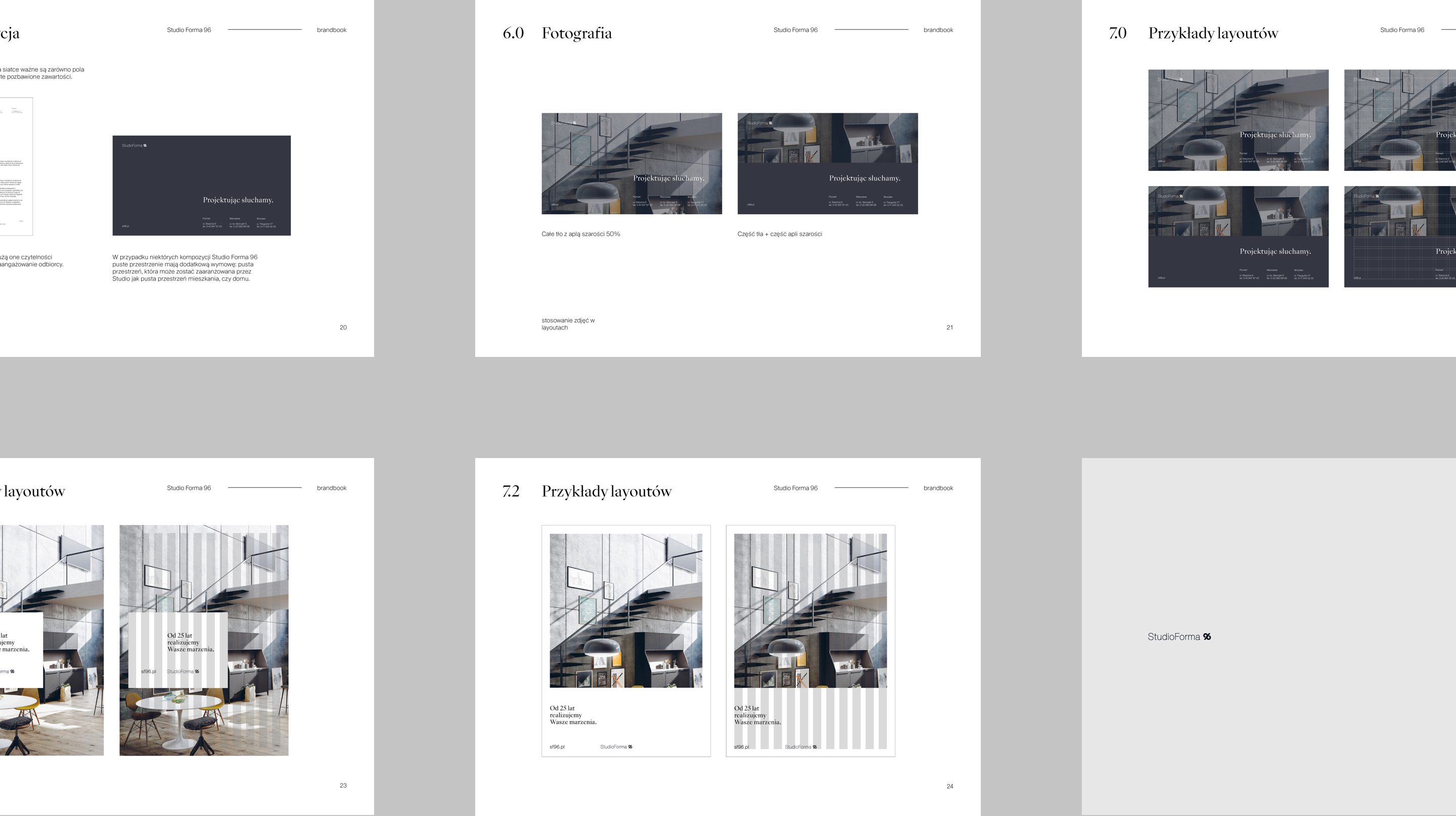 Brandbook layouts - StudioForma 96 by Uniforma