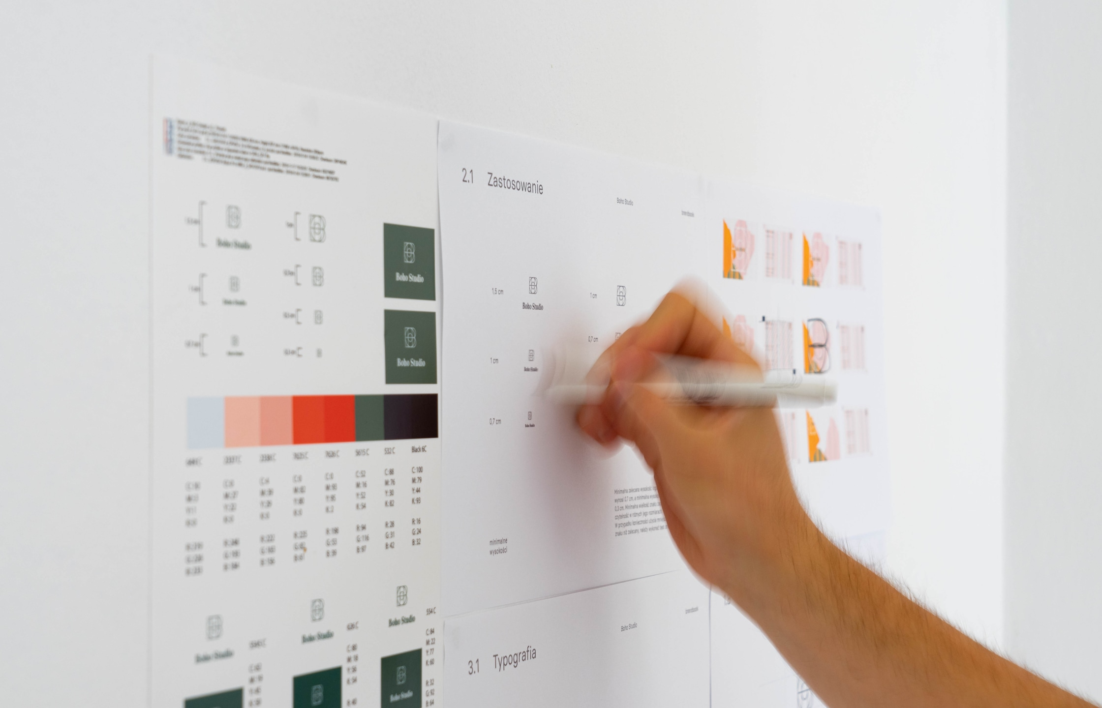 Homepage - web design - Boho Studio by Uniforma