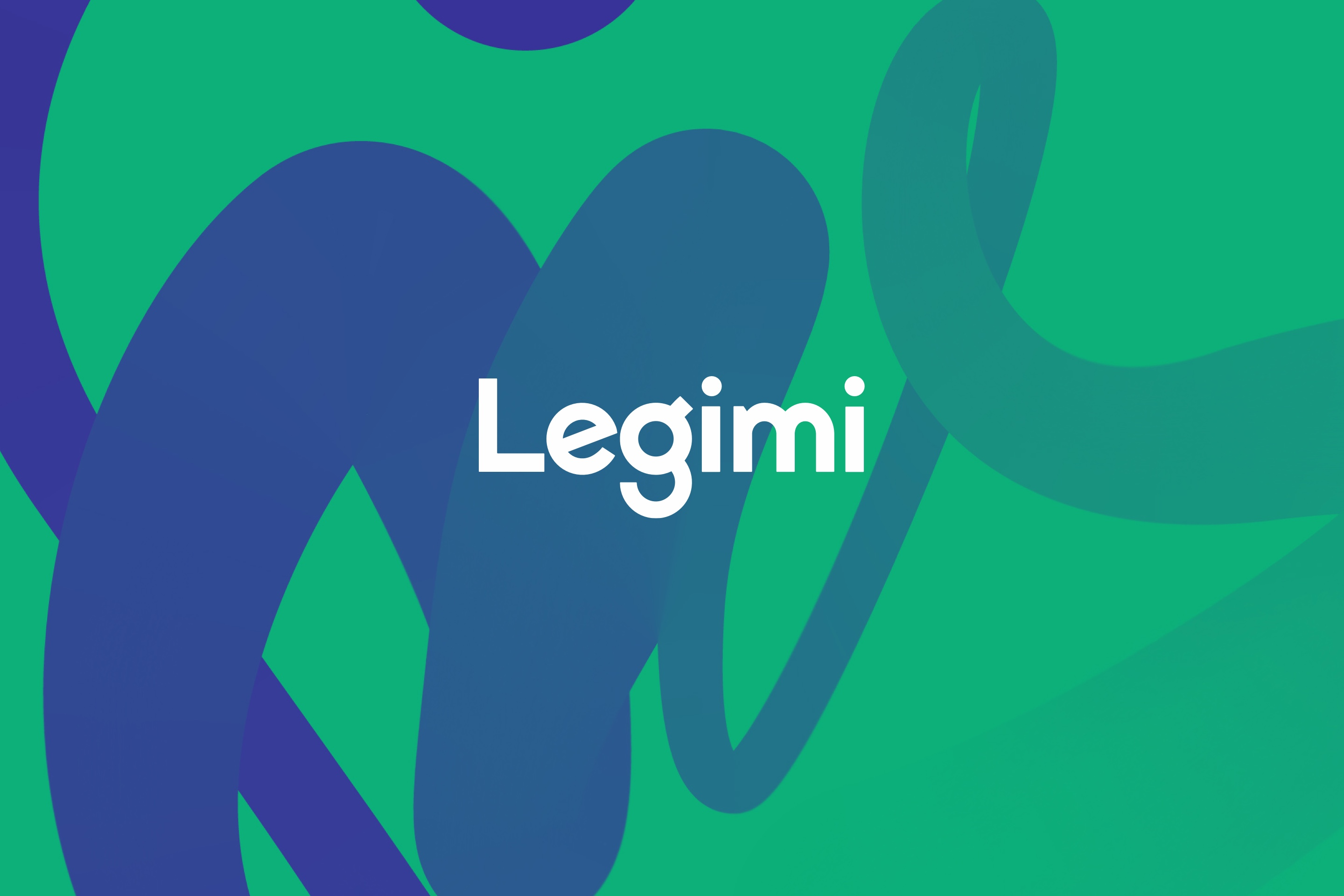 Brand logo - green and blue pattern in the background - Legimi by Uniforma