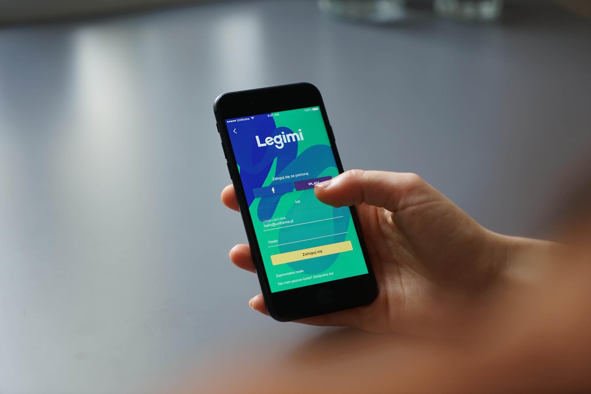 Mobile app design - Legimi by Uniforma