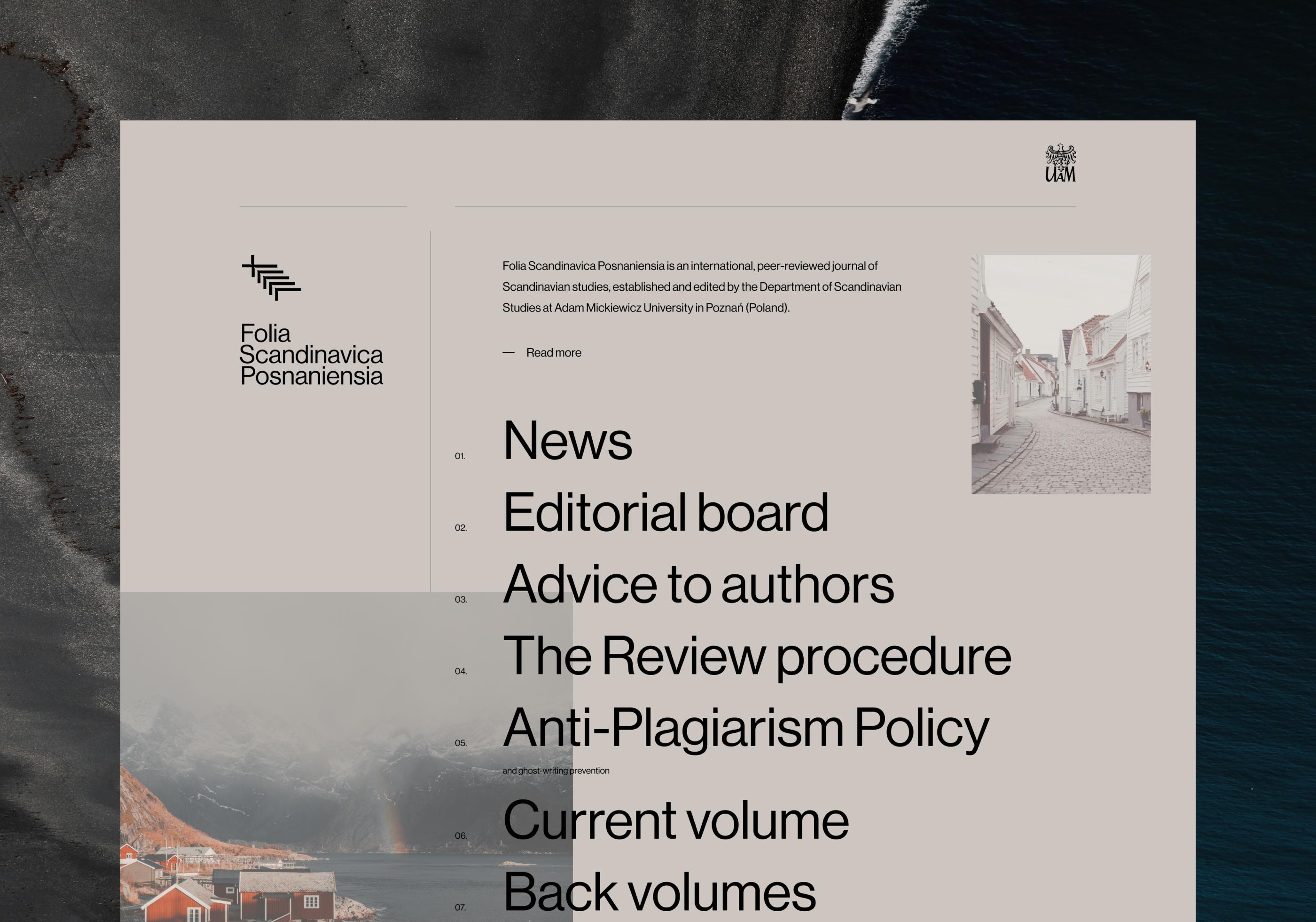 Homepage design - Folia Scandinavica Posnaniensia
