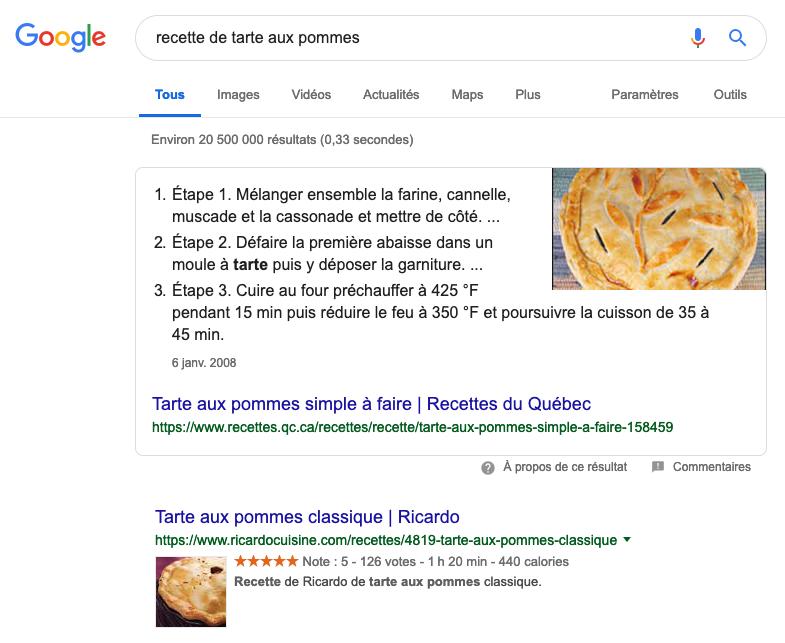 recherche-google-recettes-tarte-aux-pommes