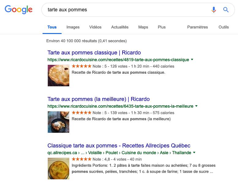 recherche-google-tarte-aux-pommes