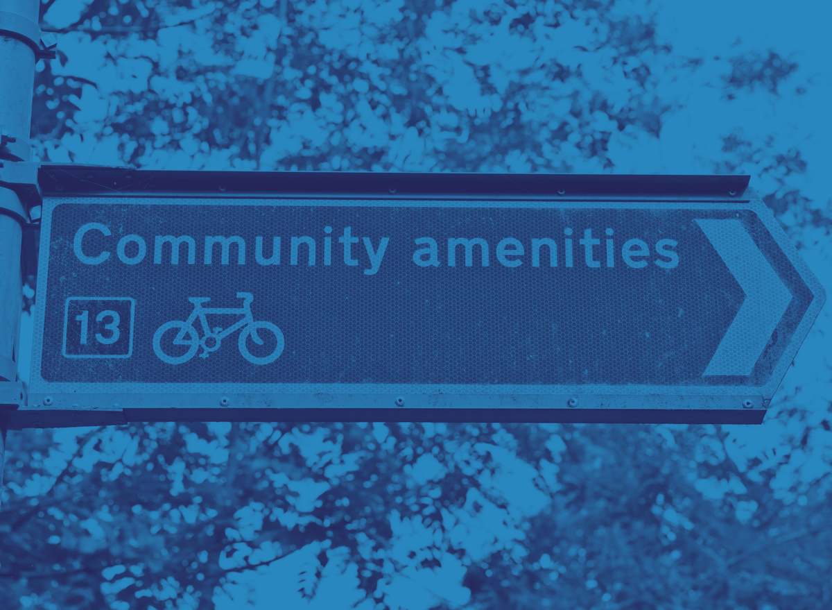 Community Amenities Sign within Community