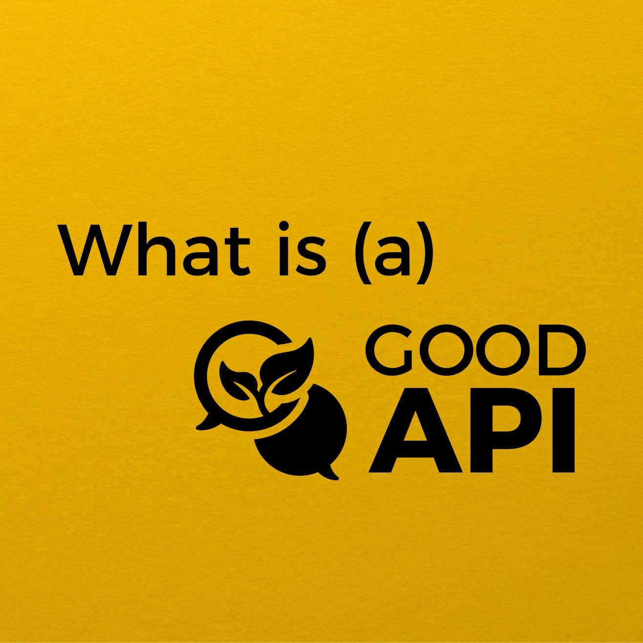 What is (a) Good API