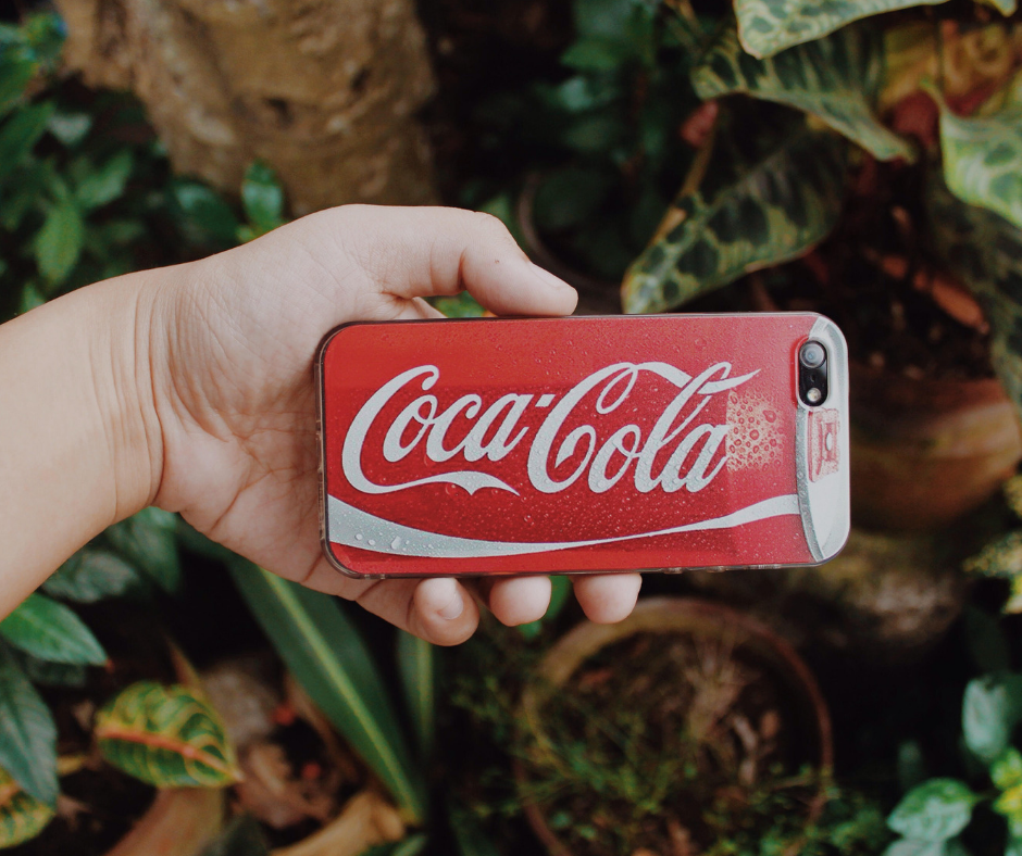 Picture of a Coca Cola phone cover