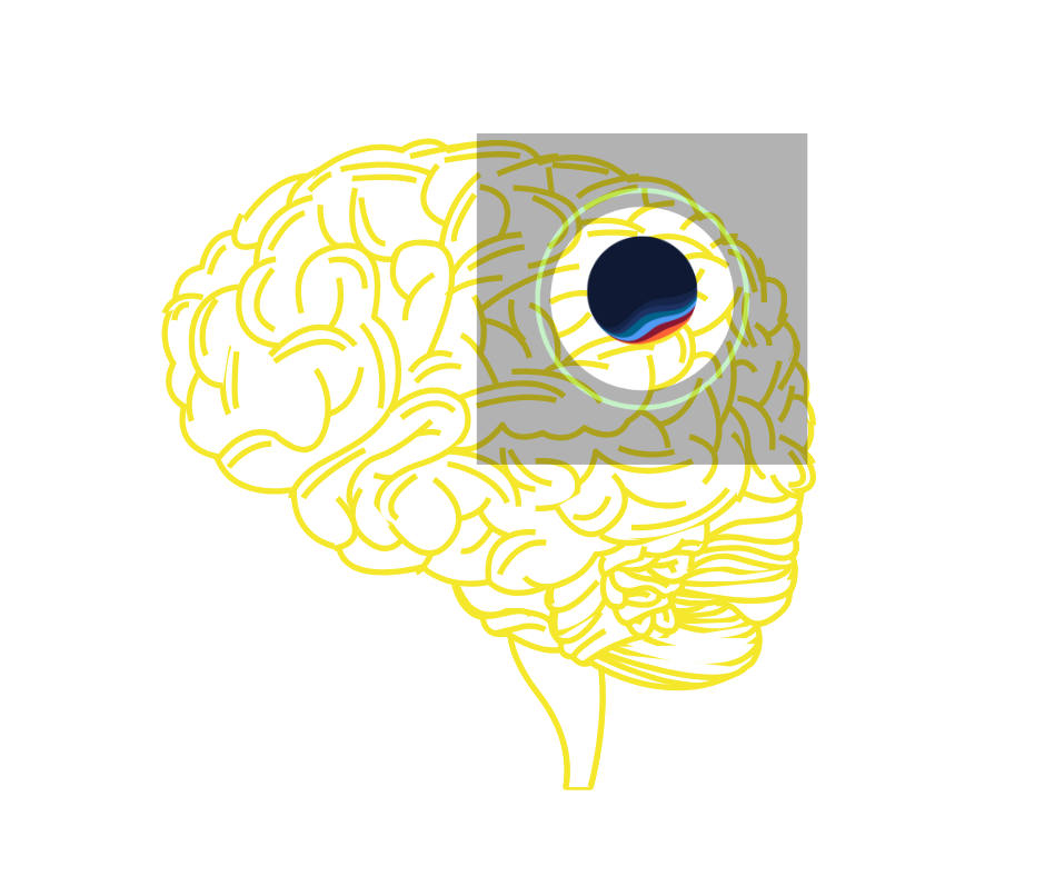 Illustration of brain and Latana logo