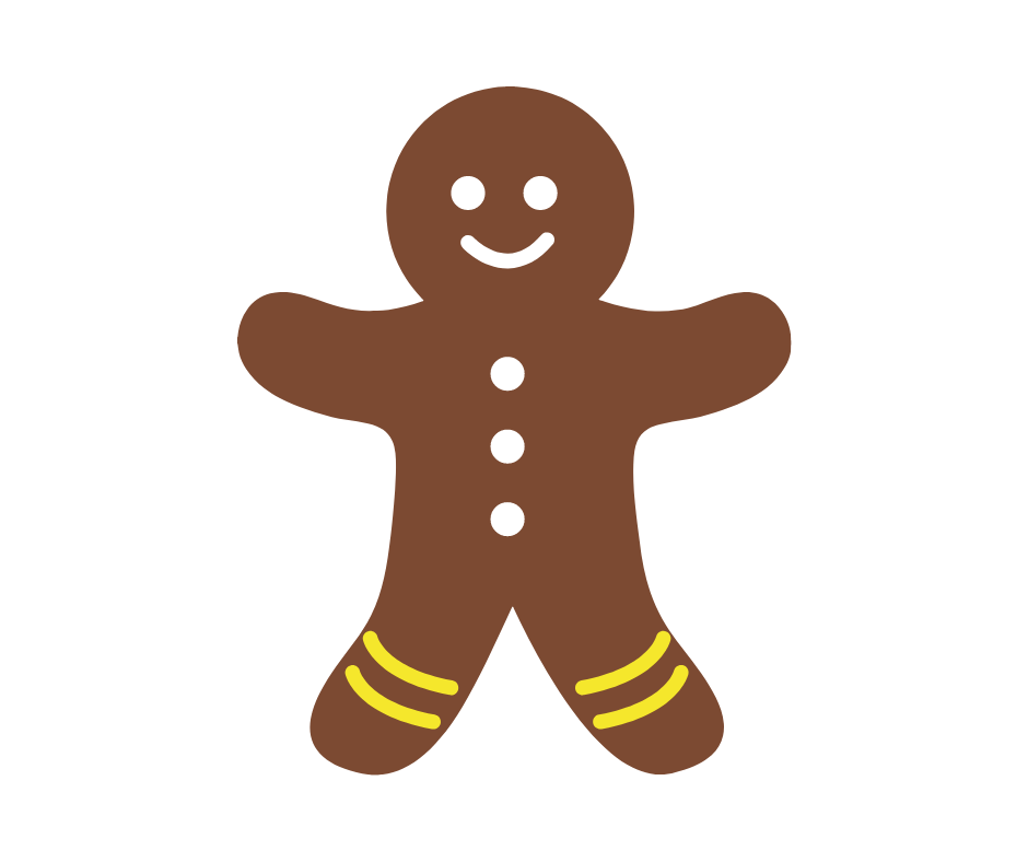 Happy gingerbread man brand awareness leader