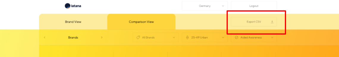 Latana Brand Analytics Platform Export CSV