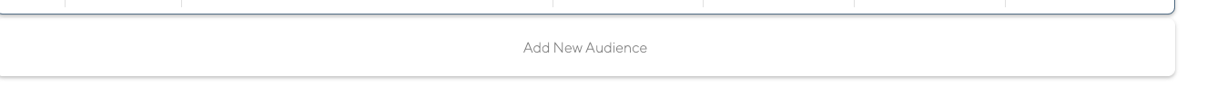 Latana Brand Analytics platform audience builder button