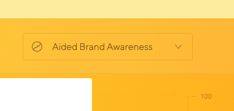 Latana Brand Analytics Platform KPI Filter