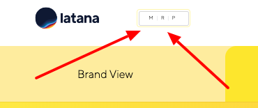 Latana brand analytics platform MRP button