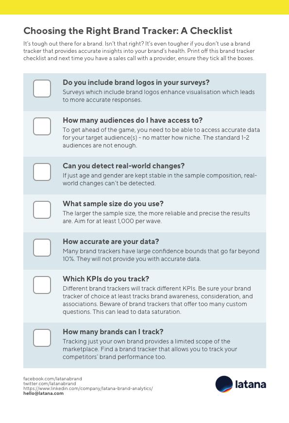 Brand Tracker Checklist