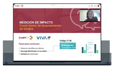 webinar de medición de impacto, software de medición de impacto, cuantix, adriana mata