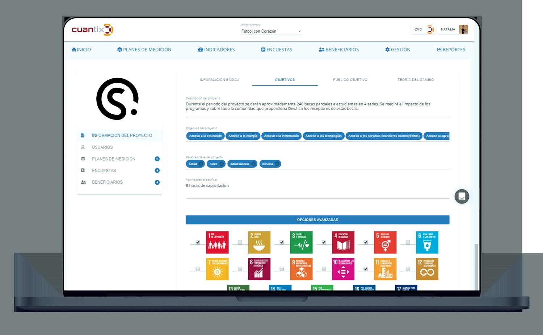 Dashboard, social impact measurement, Impact Investing, Social impact, SROI, Measurement and evaluation, social investing, impact report, SDG, Saas