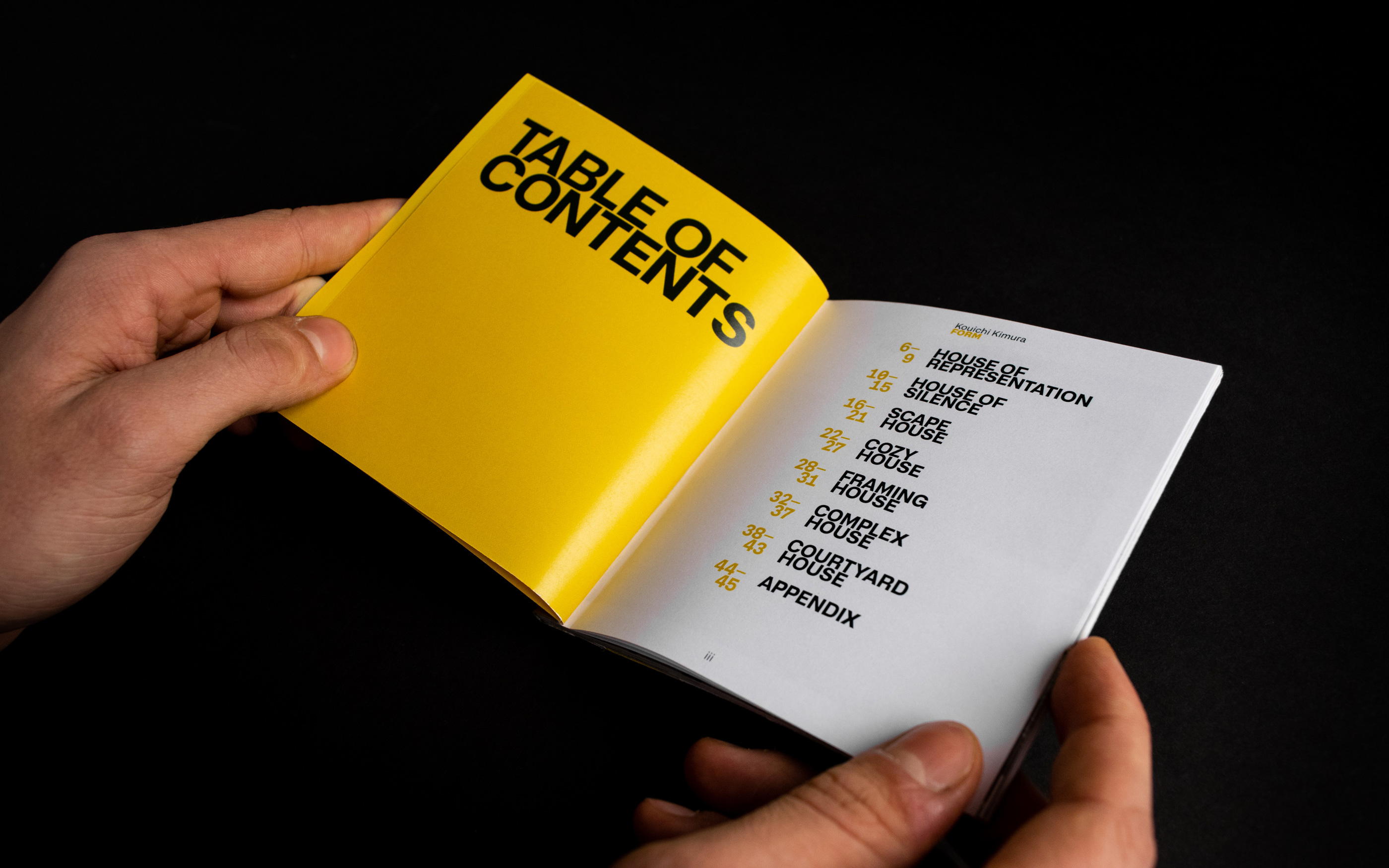 Table of Contents Book Spread