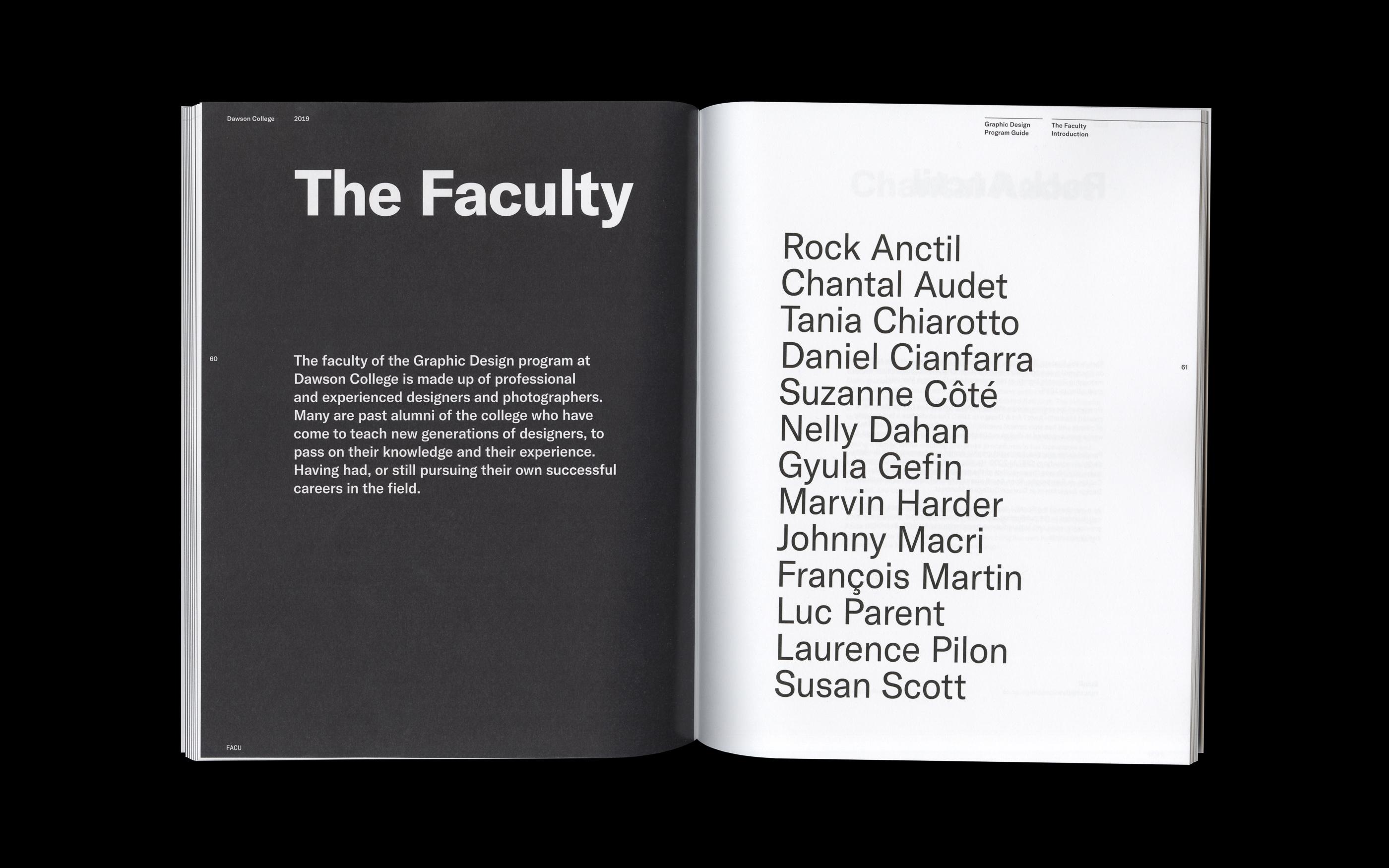 Faculty Divider Spread