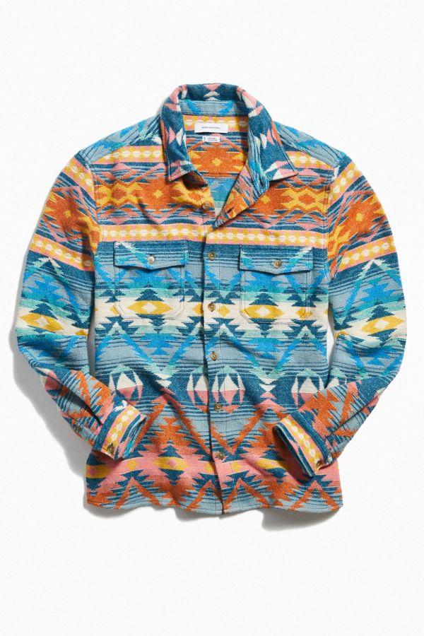Southwestern Jacquard Flannel Shirt