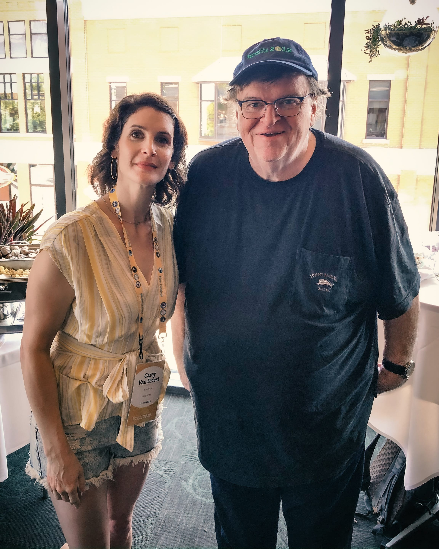 Carey Van Driest with Michael Moore