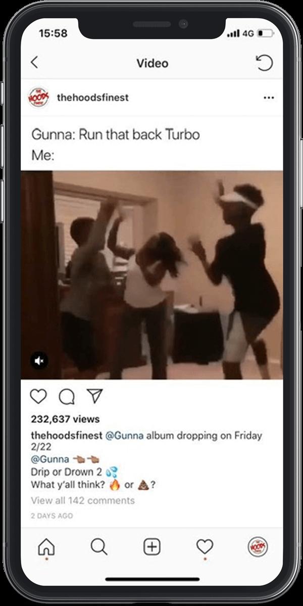 Gunna influencer social media marketing promo