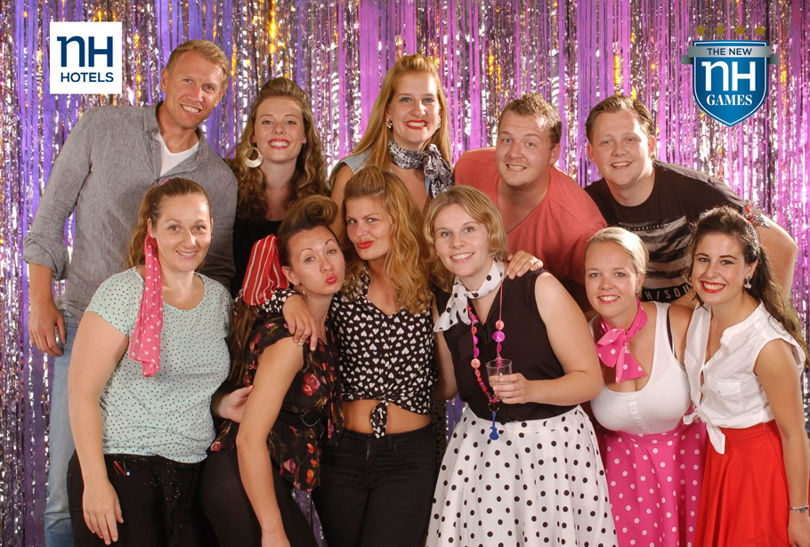 Green screen fotografie en foto-entertainment op personeelsfeest van NH hotels