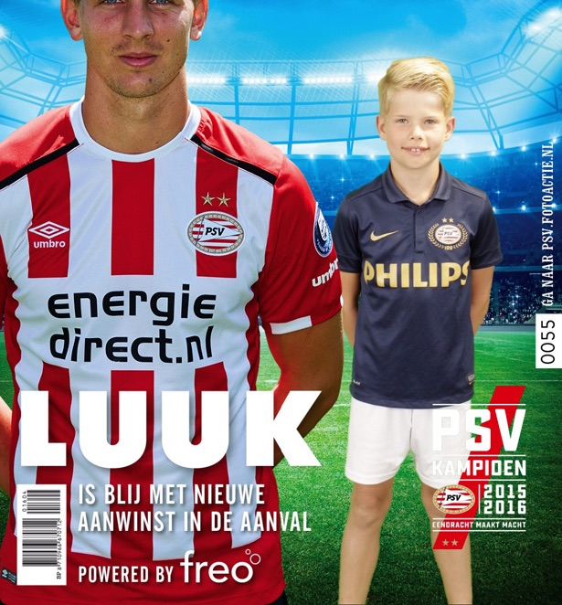Green screen fotostudio van Funpix tijdens de PSV Fandag 2016