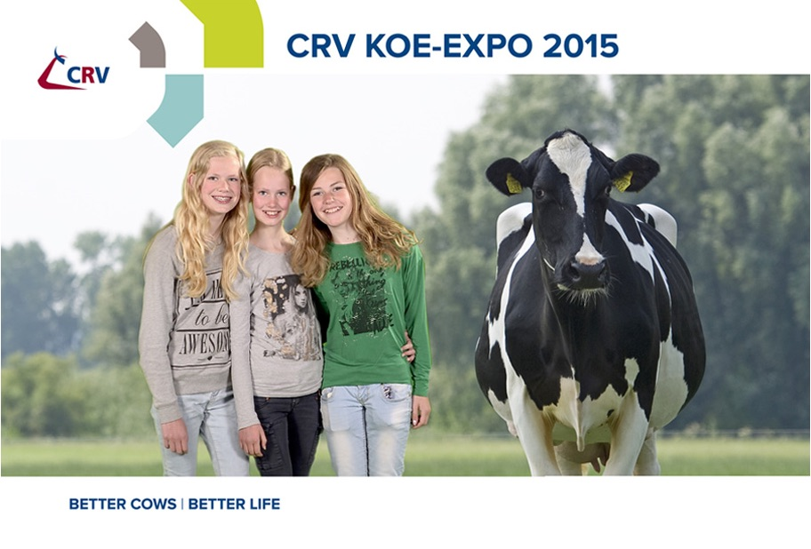 Green screen fotografie en fotomarketing voor CRV tijdens Koe Expo 2015