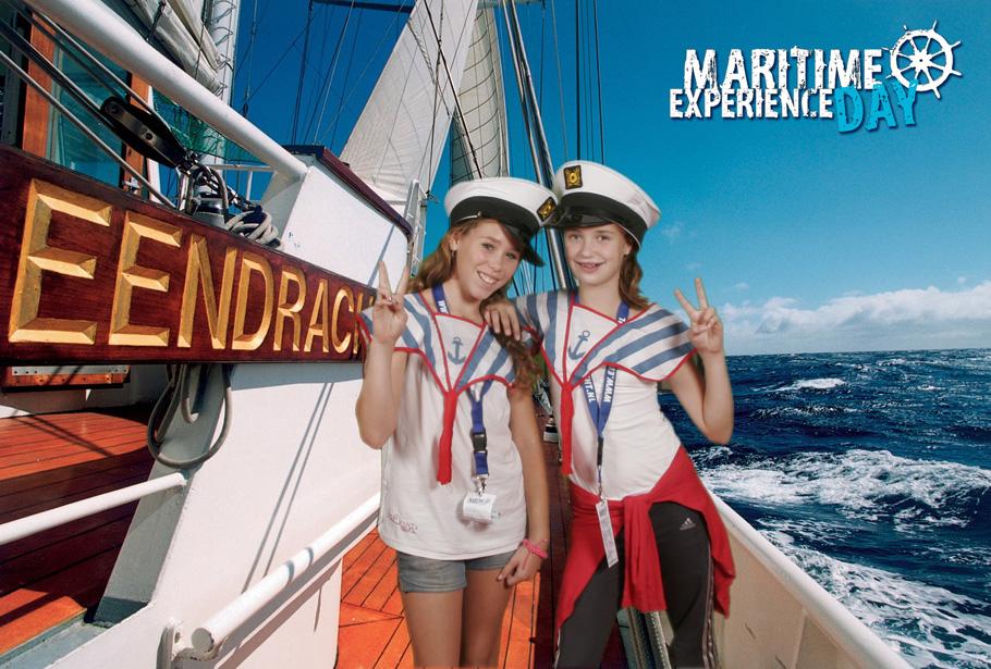 Green screen fotostudio van Funpix stond tijdens de Maritime Experience Day leuke foto's te maken van de kinderen die aan boord van een schip waren