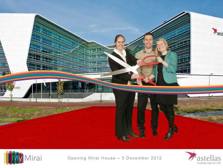 Green screen fotografie tijdens de Open Dag van het nieuwe gebouw van Astellas in Leiden