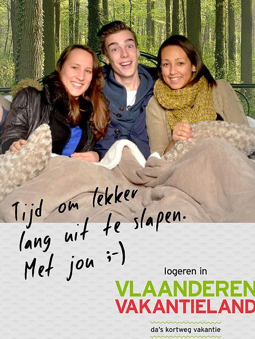 Green screen fotostudio door Funpix fotomarketing voor Vlaanderen vakantieland op het Centraal Station te Antwerpen.