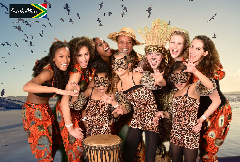 Green screen fotografie op vakantiebeurs voor South Africa Tourism door Funpix green screen fotografie