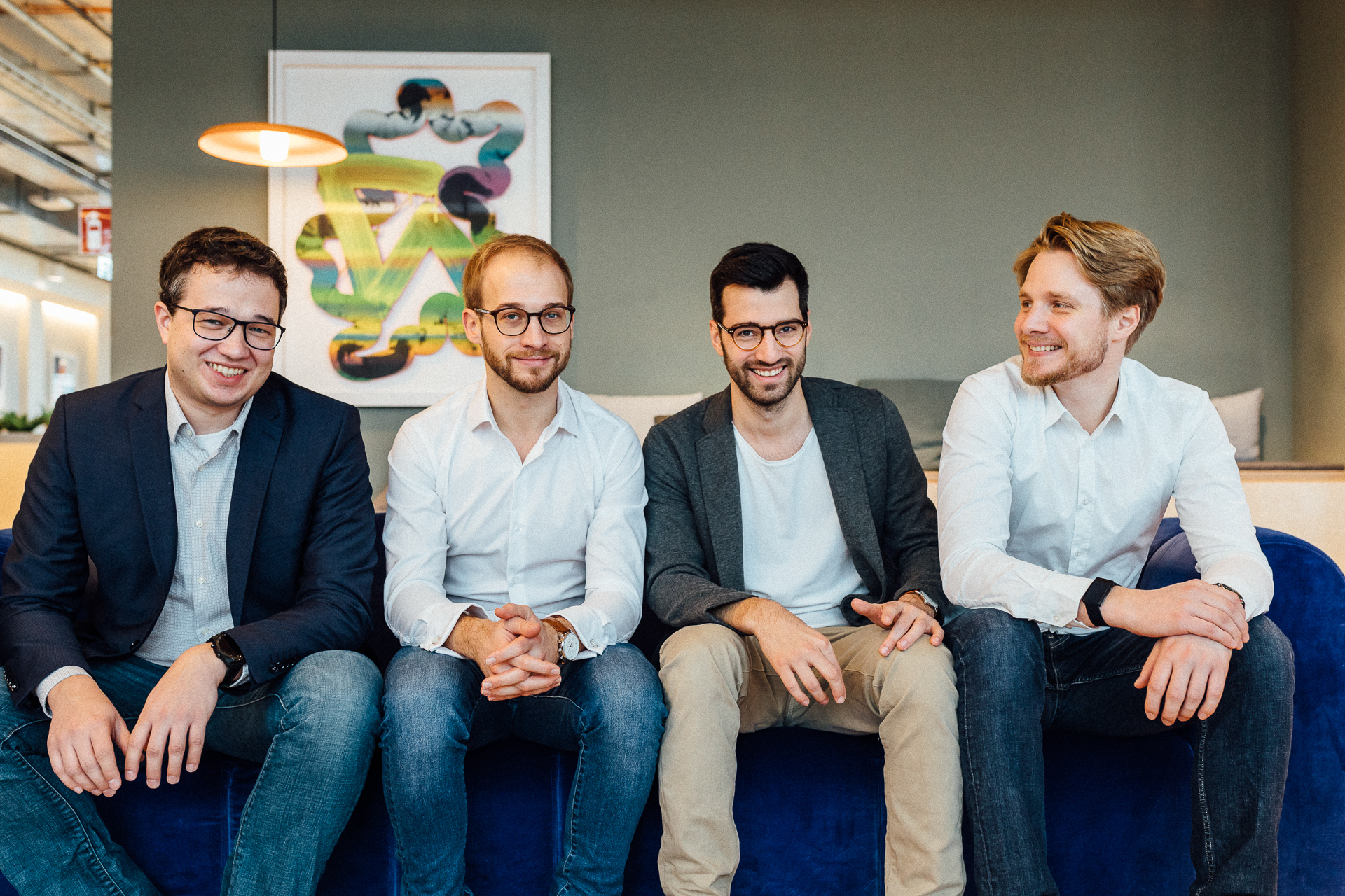 The XCNT Team (from left to right): Christoph Brand, Sebastian Graf, Tobias Grabmeier, Friedrich Arnold