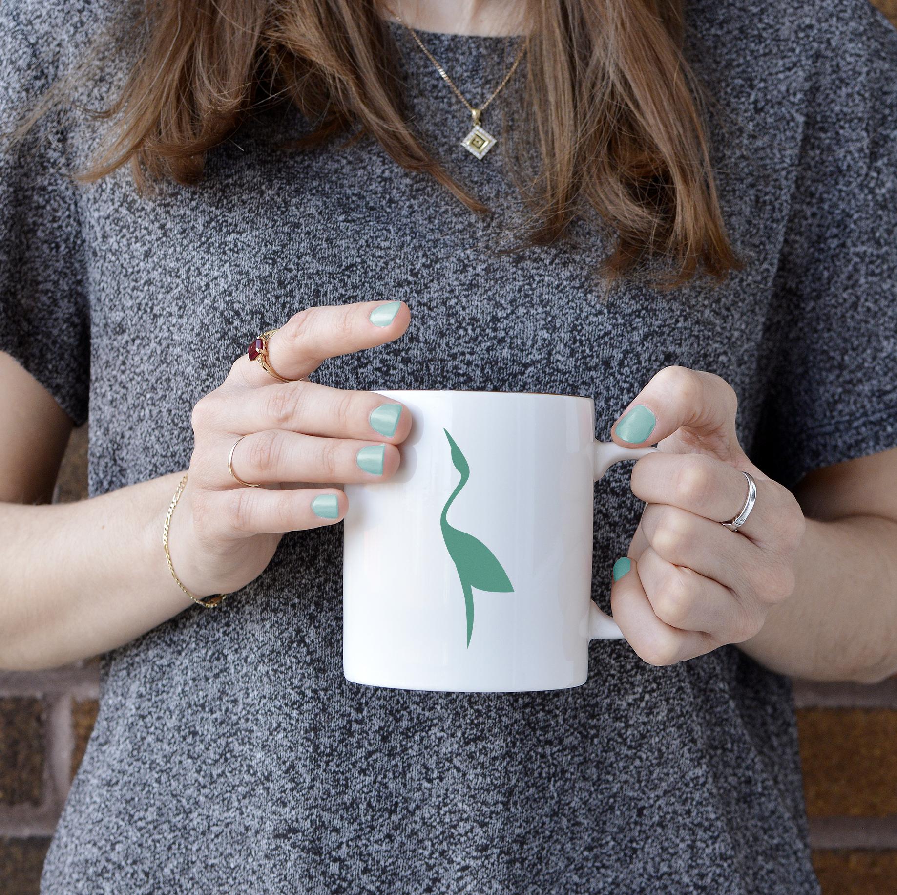 Upraised mug