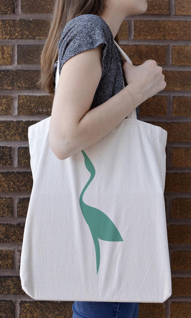 Upraised tote bag