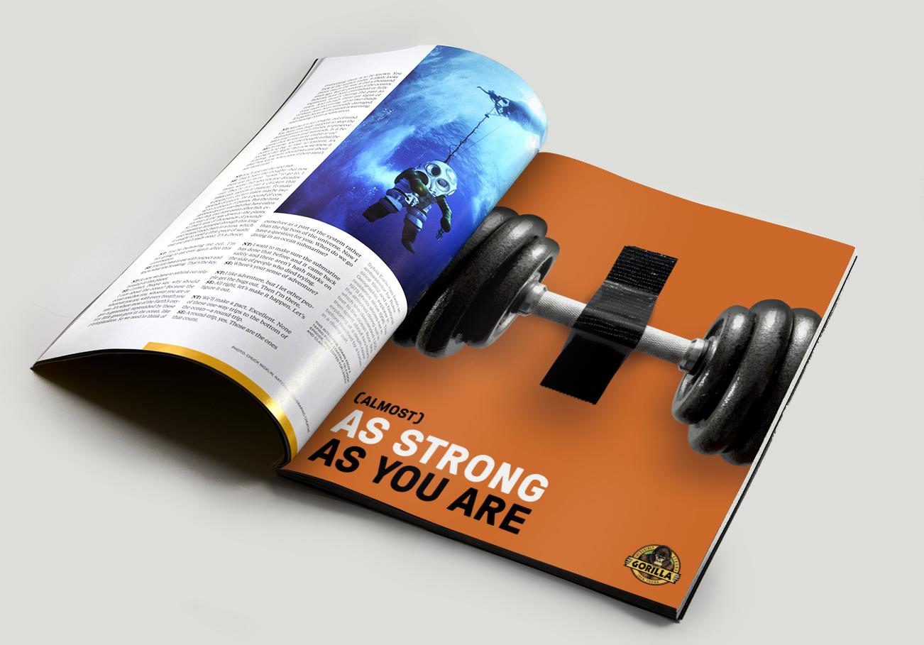 Gorilla Tape ad in magazine