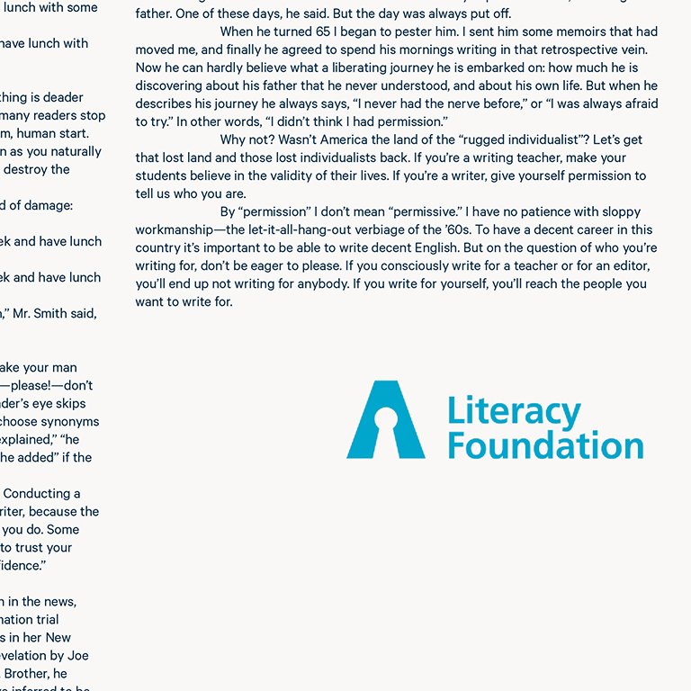 Illiteracy awareness foundation logo