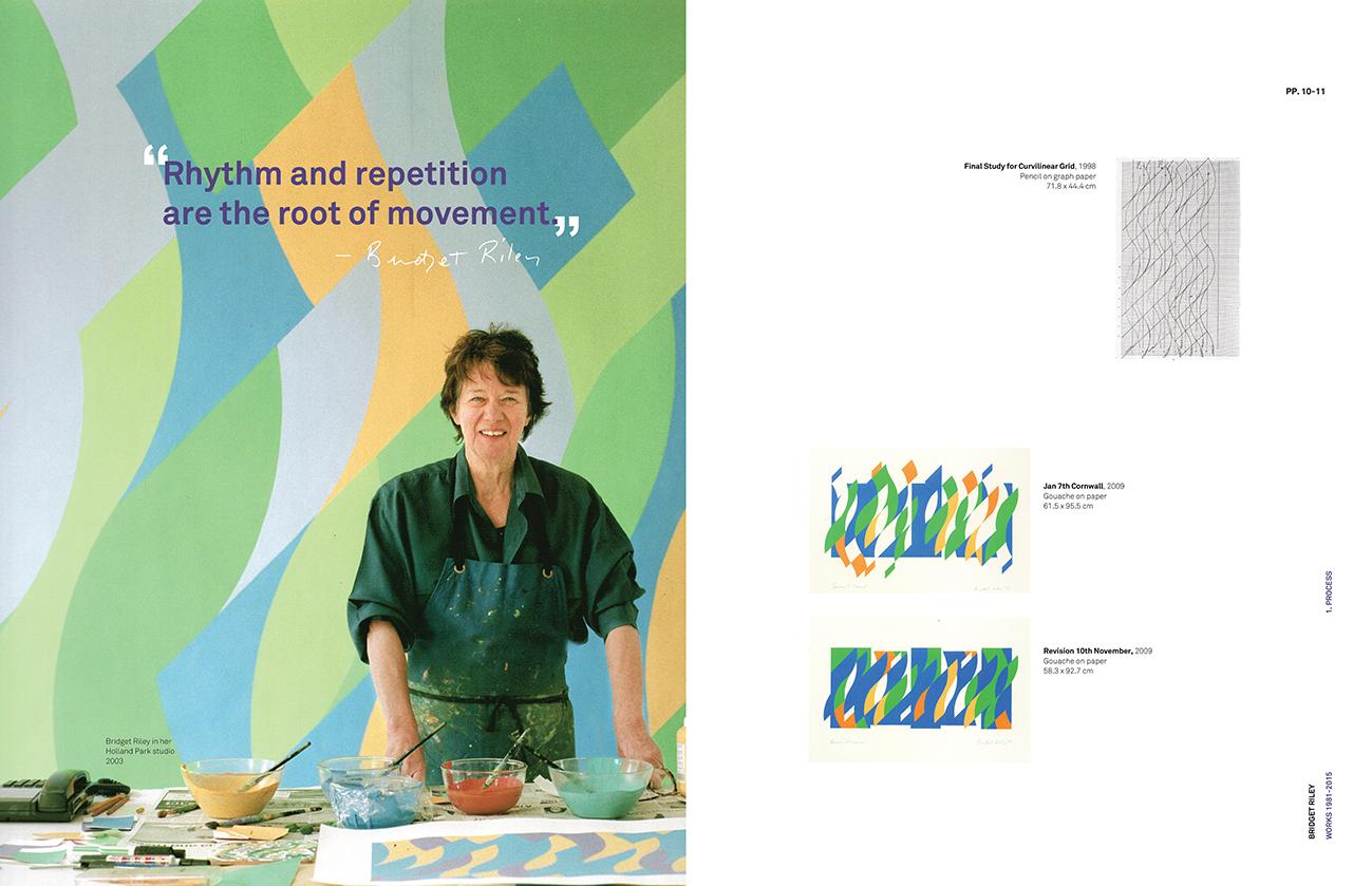 Bridget Riley artworks book spread