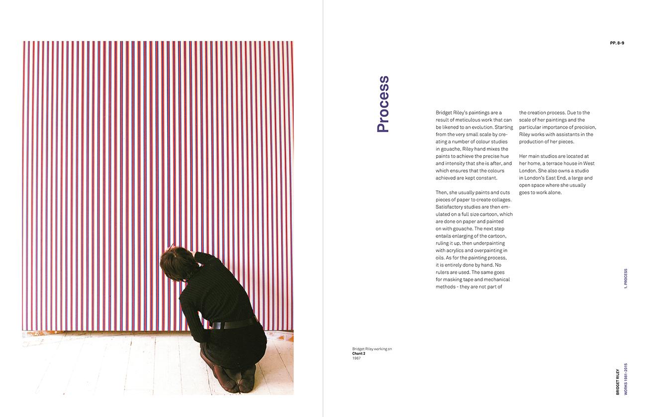 Bridget Riley process book spread