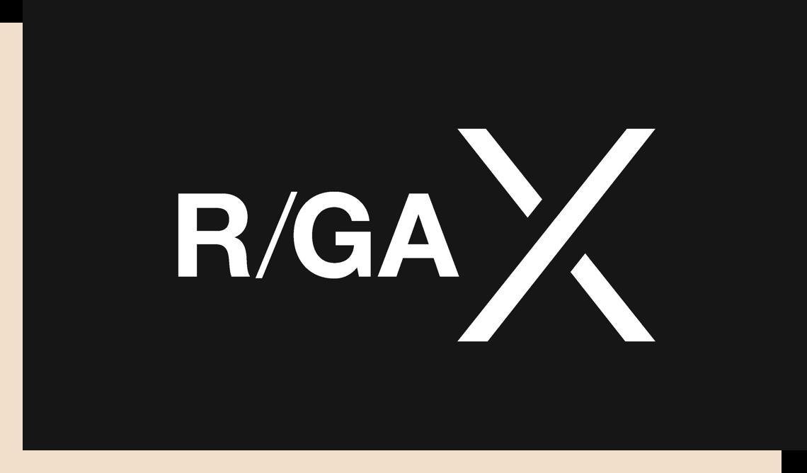 R/GA X logo
