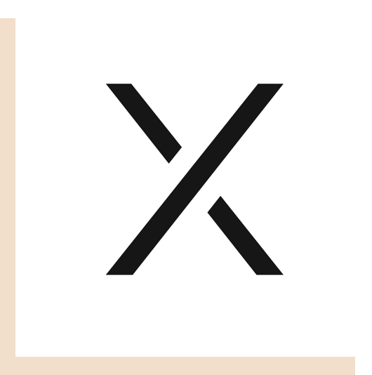 R/GA X white logo