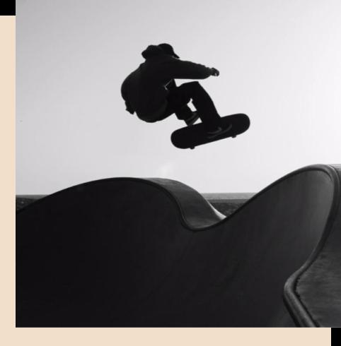 Employee skateboarding