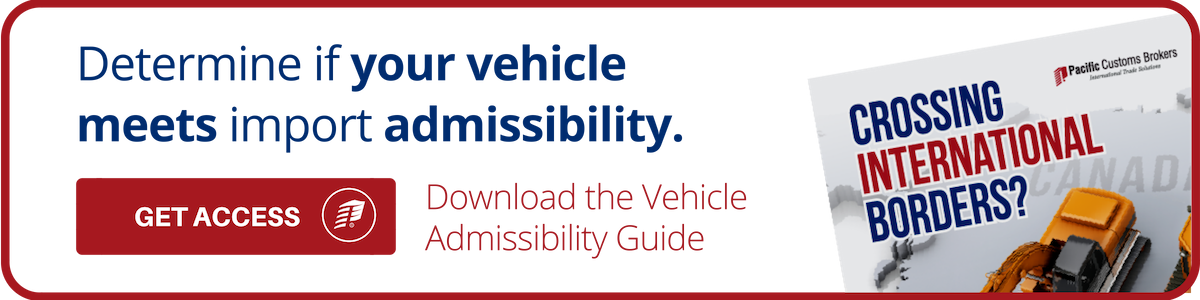 Vehicle Admissibility Guide