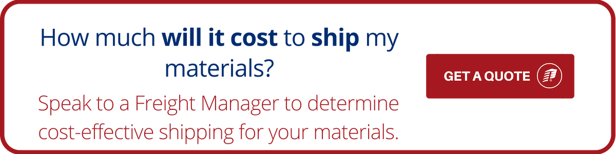 get a quote for shipping your materials