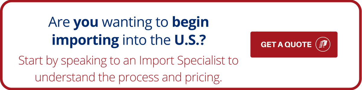 get a quote for importing into the US