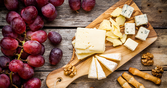 grape and cheese platter