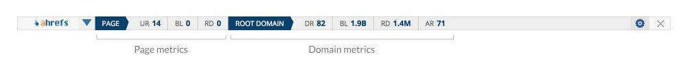 page metrics