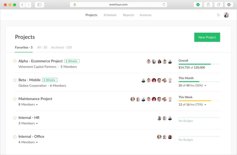 everhour worker tracking app