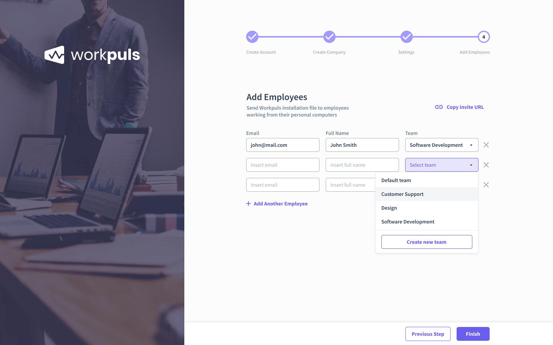 workpuls employee settings