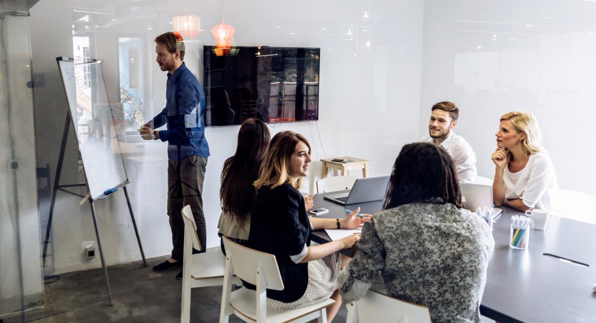 Boardroom meeting image